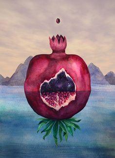 Karina Eibatova Illustrations- Image of Universe is full of seeds