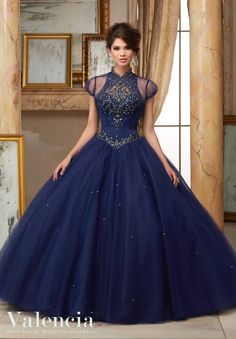 Stunning and gorgeous, Mori Lee Mori Lee Valencia Quinceanera Dress Style 60008 is sure to light up the room at your Sweet 15 party. Made out of satin and tulle, this ball gown features a high halter