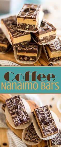 These Coffee Nanaimo Bars are a delicious variation on this great Canadian classic. The addition of Espresso powder really takes these treats over the top! Coffee Dessert, Dessert Bars, Dessert Recipes, Xmas Recipes, Pastry Recipes, Brunch Recipes, Nanaimo Bars, Chocolate Graham Crackers, Chocolate Topping