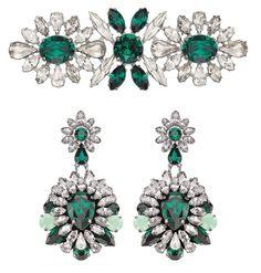 swarovski crystal jewelry 2013/2014 | swarovski secret treasures by shourouk earrings brooch swarovski ...
