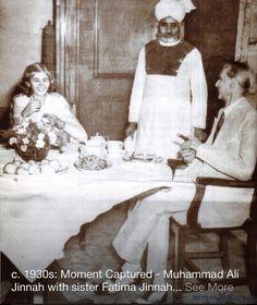 Mohammad Ali Jinnah founder Of Pakistan with his sister Fatima Ali Jinnah.
