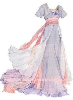 beautiful, delicate look.  Reminds me a bit of Disney's Maid Marian's dress