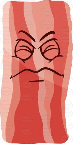An irritated strip of bacon #cartoon #clipart #vector #vectortoons #stockimage #stockart #art