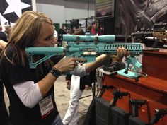 I am sooooo in love with this gun. Yes it's girly and blue but it's still sweet!