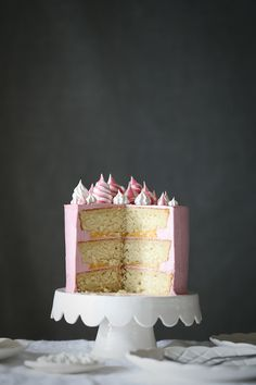 Coconut Raspberry Cake with Lemon Curd | The Polka Dotter
