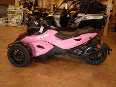 Spyder Motorcycle Pink Can am 2012 spyder rs s se5