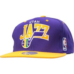 b2ce37080d2 NBA Utah Jazz Arch Mitchell and Ness Snapback Hat Nba Hats