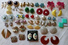 Mixed Lot Vintage Clip Screw Back Earrings Dauplaise Vendome Napier Marvella VGC #DauplaiseVendomeNapierMarvella #ClipScrewbackPost