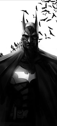 Batman Sketch by leopinheiro on @DeviantArt