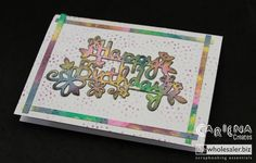 Rainbow Card, Video Tutorials, Thinking Of You, Channel, Scrapbook, Seasons, My Favorite Things, Create, Youtube