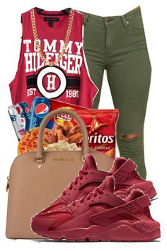 """."" by ray-royals ❤ liked on Polyvore featuring NIKE"