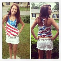 4th of july cut up shirts