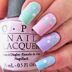 Pastel Nails: 35 Creative Pastel Nail Art Designs - Part 23 Trendy Nails, Cute Nails, My Nails, Easter Nail Designs, Nail Art Designs, Pastel Designs, Nails Design, Spring Nail Art, Spring Nails