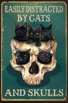 Crazy Cat Lady, Crazy Cats, I Love Cats, Cute Cats, Recetas Halloween, Memes Arte, Black Cat Art, Black Cats, Family Canvas