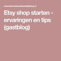 Etsy shop starten - ervaringen en tips (gastblog)