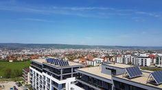 Panouri solare pe imobilele M4 & M5 #energyefficiency #greenenergy Paris Skyline, Mansions, House Styles, Travel, Home Decor, Mansion Houses, Homemade Home Decor, Trips, Villas