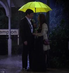 The moment we all waited for: The couple met at the Farhampton train station and Ted accused Tracy of stealing his umbrella