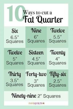 10 Ways to Cut a Fat Quarter