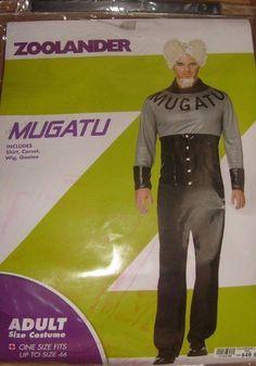 ZOOLANDER MUGATU MEN'S ONE SIZE FITS MOST UP TO 46 HALLOWEEN COSTUME NEW #NEWCOATUME #CompleteOutfit