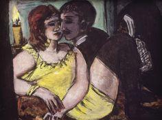 Max Beckmann (German, 1884 - 1950) Lovers / Green and Yellow / Loneliness/ Prostitution (Liebespaar / Grün und Gelb / Einsamkeit /Käufliche Liebe), 1940-194