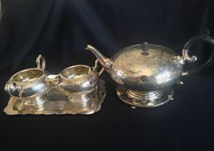 Antique 5 piece Silver Plate Tea/Coffee Set - C G & Sons Co. of England