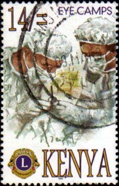 Stamp: Work of Lions Club International in Kenya (Kenya) (Lions Club International) Mi:KE 693,Sn:KE 698,Yt:KE 678,Sg:KE 717 by Dvora Bochman