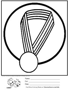 olympic coloring page gold medal