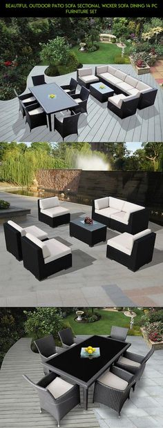 Beautiful Outdoor Patio Sofa Sectional Wicker Sofa Dining 14 pc Furniture Set #technology #shopping #kit #drone #furniture #products #patio #tech #gadgets #plans #parts #14pc #fpv #camera #racing