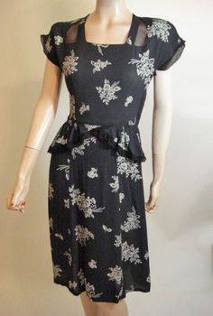 Early 40s Rayon Floral