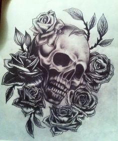 sugar skull  Image detail for -... sugar skull and roses tattoo