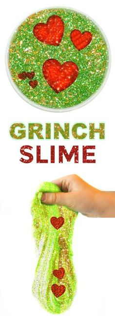 GRINCH SLIME- so fun