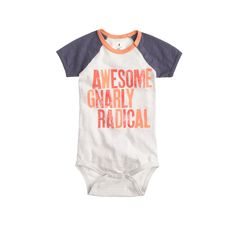 Baby baseball one-piece in awesome - AllProducts - nullsale - J.Crew