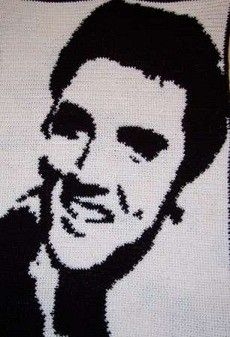 Free Elvis crochet afghan pattern - Milwaukee Arts and Crafts   Examiner.com. My dad would love this!