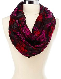 Floral Print Infinity Scarf: Charlotte Russe - http://AmericasMall.com/categories/lingerie-underwear.html