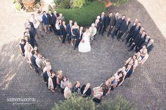 Gruppenfoto Herz Hochzeit in Rheinhessen, Weingut Geil, Monzenheim