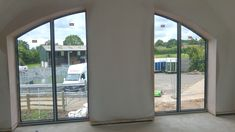 Large Aluminium windows with a view, newly installed