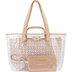 Jacki Design Contour 3 Piece Tote Bag Set -- Awesome products selected by Anna Churchill Leather Bag Design, Leather Bag Pattern, Clear Handbags, Tote Handbags, Tan Tote Bag, Clutch Bag, Clear Tote Bags, Ethnic Bag, Transparent Bag