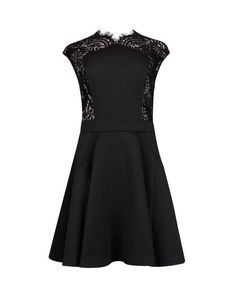 Lace panel dress - Black | Dresses | Ted Baker UK