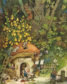 Illustration from 'Nicky and His Forest Friends""