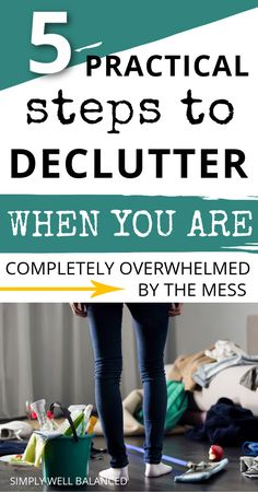 The best decluttering ideas when you're feeling overwhelmed. Learn 5 steps to make progress today. Learn how to start decluttering your home when you don't know where to start. #declutter #overwhelmed #clutterfree #tidyup #cleanhouse Spring Cleaning Organization, Home Organization Hacks, Organization Ideas, Decluttering Ideas, Declutter Your Life, Clutter Free Home, Sparks Joy, Konmari Method, Organized Mom