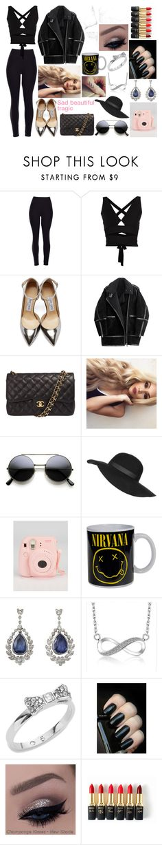 """""""Sad beautiful tragic """" by anette-rivera ❤ liked on Polyvore featuring Proenza Schouler, Jimmy Choo, H&M, Chanel, Topshop, Kate Spade, L'Oréal Paris, women's clothing, women's fashion and women"""