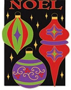 Noel Ornaments Christmas Garden Flag