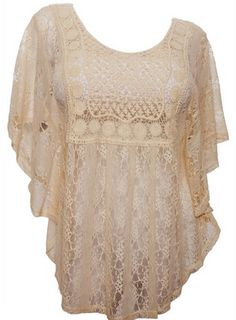 plus size lace poncho top, comes in 1x-3x and lot sof colors to pick from PLUS…