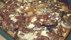 Eggplant, zucchini, potatoes and onion are layered with tomatoes and lentils, and baked with a bechamel white sauce. Vegetarian Entrees, Vegetarian Cheese, Moussaka Recipe, Eggplant Zucchini, Eggplant Recipes, How To Cook Potatoes, Sliced Potatoes, White Sauce, Kitchens