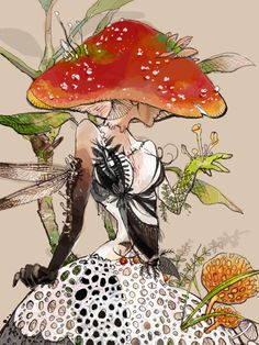 Explore amazing art and photography and share your own visual inspiration! Character Art, Character Design, Mushroom Art, Mushroom Drawing, Psy Art, Jolie Photo, Magical Creatures, Psychedelic Art, Art Inspo