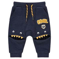 Slub fleece jogging pants with cutouts monsters Hand Baby Outfits, Kids Outfits, Baby Couture, Toddler Dolls, Baby Boy Shoes, Boys Wear, Kids Fashion Boy, Kids Pajamas, Summer Shirts
