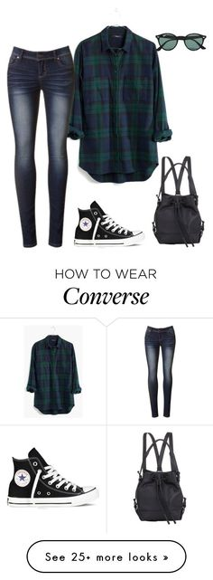 """Untitled #444"" by nellsmboweni on Polyvore featuring Madewell, Ray-Ban, Converse, Opening Ceremony, women's clothing, women, female, woman, misses and juniors"