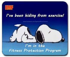 A funny cartoon of Snoopy hiding from exercise~~The Fitness Protection Program Peanuts Cartoon, Peanuts Snoopy, Schulz Peanuts, Snoopy Cartoon, Snoopy Comics, Cartoon Pics, Snoopy Love, Snoopy And Woodstock, Snoopy Quotes