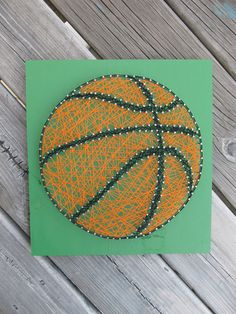 """$35, 12x12"""", Made to Order String Art Sign Basketball Sign by BlossomingBurlap"""