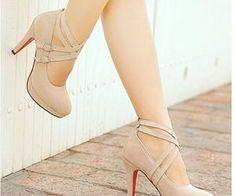Gender: WomenItem Type: PumpsShoe Width: Medium(B,M)Process: AdhesiveSeason: Spring/AutumnClosure Type: Lace-UpToe Shape: Round Toeis_handmade: YesUpper Material: FlockInsole Material: TPRHeel Height: High Women's Pumps, Stilettos, Stiletto Heels, Nude Heels, Beige Heels, Red Bottom Shoes, Prom Heels, Platform High Heels, Ankle Strap Heels
